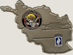 Infantry army custom challenge coins