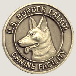 3D border patrol challenge coins